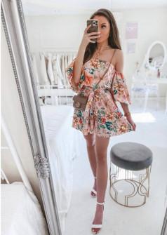 Γυναικεία έξωμη ολόσωμη φόρμα 45871 ροζ
