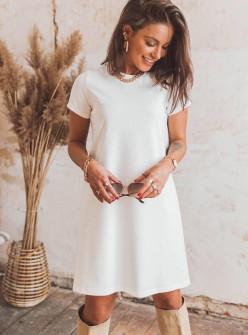Γυναικείο μπλουζοφόρεμα 5166 άσπρο