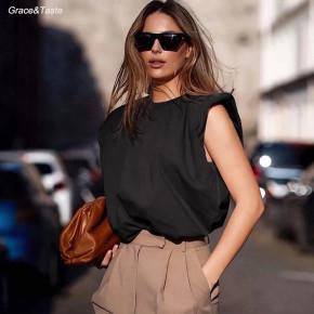 Γυναικείο αμάνικο μπλουζάκι 5090 μαύρο