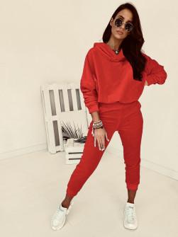 Γυναικείο σετ βελουτέ 10210 κόκκινο