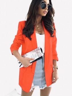 Γυναικείο κομψό σακάκι με φόδρα 3229 πορτοκαλί