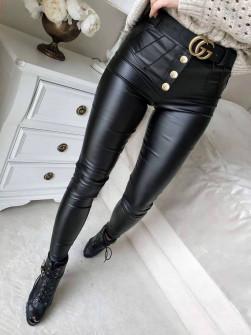 Γυναικείο δερμάτινο παντελόνι 03243