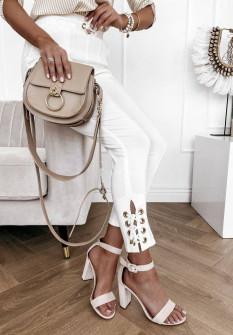 Γυναικείο εντυπωσιακό παντελόνι 4698 άσπρο