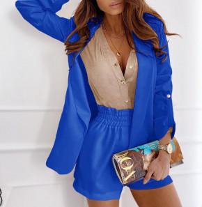 Γυναικείο σετ σακάκι και παντελόνι 5045 μπλε