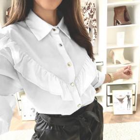 Γυναικείο εντυπωσιακό πουκάμισο 3551 άσπρο