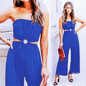 Γυναίκεια εντυπωσιακή ολόσωμη φόρμα 2354 μπλε