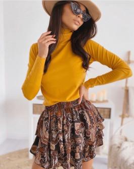 Γυναικεία μπλούζα ζιβάγκο 3483 κίτρινη