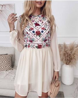 Γυναικείο φόρεμα με τούλι 5822 άσπρο