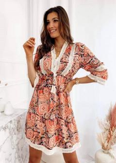 Γυναικείο φόρεμα με έθνικ σχέδια 547402