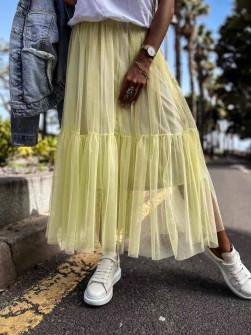Γυναικεία αέρινη φούστα 5488 κίρινη