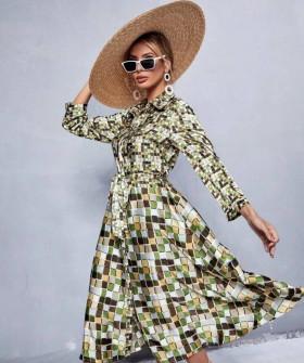 Γυναικείο φόρεμα μάξι με print 2182501