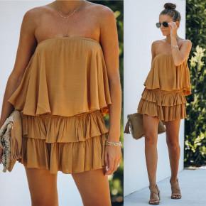 Γυναικείο φόρεμα 2440 καμηλό