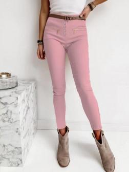 Γυναικείο κολάν σε στυλ παντελόνι 000713 ροζ