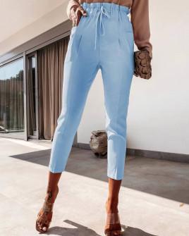 Γυναικείο ελαστικό παντελόνι 2126 γαλάζιο