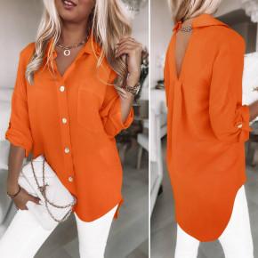 Γυναικείο χαλαρό φόρεμα 5874 πορτοκαλί