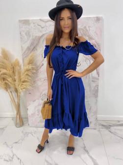 Γυναικείο φόρεμα με κουμπιά 3726 μπλε