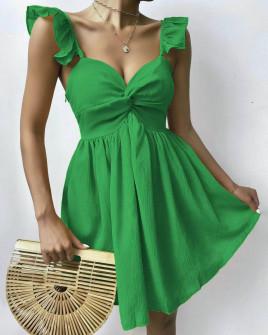 Γυναικείο εντυπωσιακό φόρεμα 27872 πράσινο