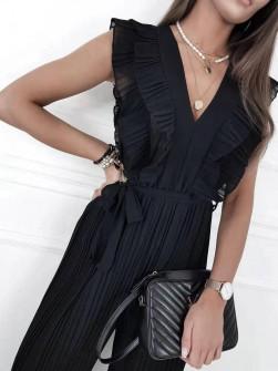 Γυναικεία ολόσωμη φόρμα σολέιγ 5741 μαύρο