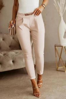 Γυναικείο εντυπωσιακό παντελόνι 5886 μπεζ