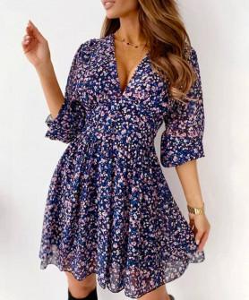 Γυναικείο φόρεμα με print 5590702