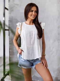 Γυναικεία χαλαρή μπλούζα 9478 άσπρη