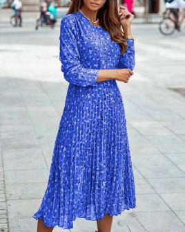 Γυναικείο μίντι φόρεμα σολέιγ 29833  μπλε