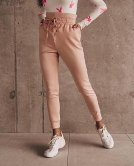 Γυναικείο αθλητικό ψηλόμεσο παντελόνι 4428 ροζ