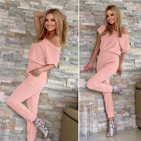 Γυναικεία ολόσωμη φόρμα 2193 ροζ