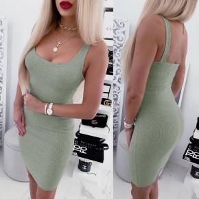 Γυναικείο εφαρμοστό φόρεμα 5113 μέντα