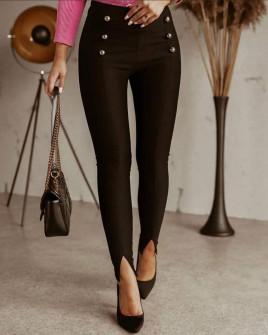 Γυναικείο παντελόνι με σκισίματα 5517 μαύρο