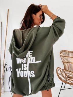 Γυναικείο σουέτ μπουφάν 19670 σκούρο πράσινο