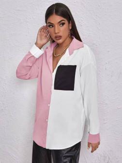 Γυναικείο πουκάμισο 5495 ροζ