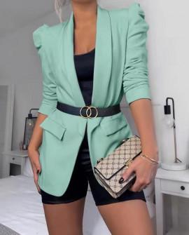 Γυναικείο κομψό σακάκι 3969 μέντα