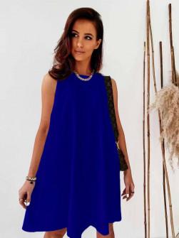 Γυναικείο χαλαρό φόρεμα 5748 μπλε