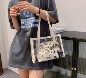 Γυναικεία εντυπωσιακή τσάντα B488 άσπρη
