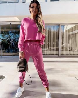 Γυναικείο αθλητικό σετ 14343 ροζ