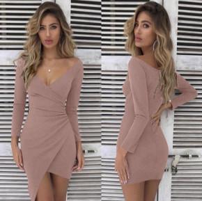 Γυναικείο εφαρμοστό φόρεμα 7106 ροζ
