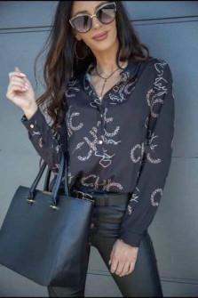Γυναικείο πουκάμισο 198603 μαύρο