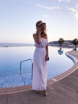 Γυναικείο φόρεμα 2685 λευκό