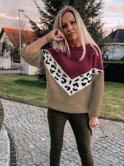 Γυναικείο πουλόβερ 71006 καφέ