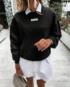 """Γυναικείο φούτερ """"BASIC"""" 3938 μαύρο"""
