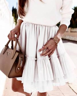 Γυναικεία φούστα τούλι 3574 άσπρη