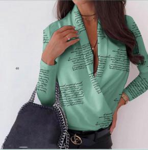 Γυναικεία μπλούζα κρουαζέ 502001 μέντα