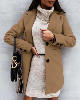 Παλτό με φόδρα 8041 καμηλό