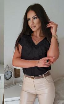 Γυναικεία μπλούζα με βαθύ ντεκολτέ 32941 μαύρη