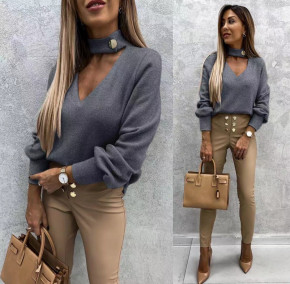 Γυναικεία εντυπωσιακή μπλούζα 5459 γραφίτη