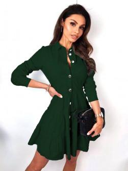 Γυναικείο φόρεμα με κουμπιά 21922 πράσινο