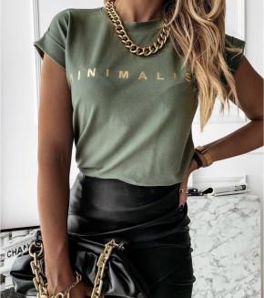 Γυναικεία μπλούζα 4079 σκούρο πράσινο