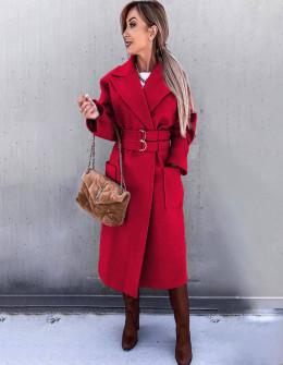 Γυναικείο εντυπωσιακό παλτό 6122 κόκκινο
