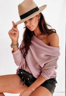 Γυναικεία έξωμη μπλούζα 2599 ροζ